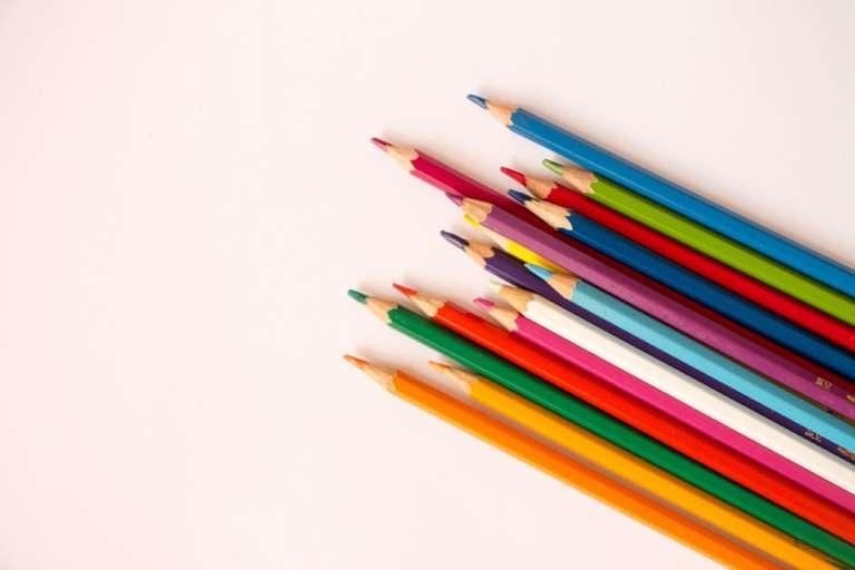 Color color pencil design.